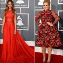 2013 Grammy Awards red carpet dresses