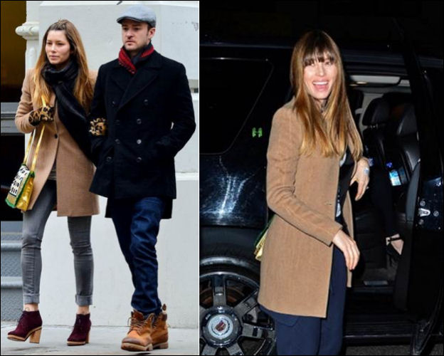 Jessica Biel fashion All Saints Nikol coat