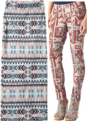 2013 SPRING fashion trends TRIBAL prints 2