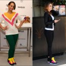 Alicia Keys & Maria Menounos in Reebok Freestyle Hi Wedge A.Keys sneakers