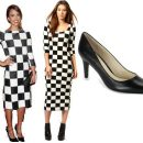 Steal the Look: Jessica Alba in Louis Vuitton checkered dress
