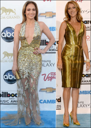 2013 Billboard Music Awards red carpet dresses jennifer lopez celine dion