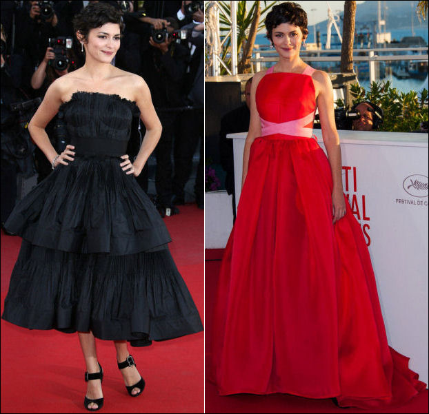 2013 Cannes red carpet dresses Audrey Tautou 1