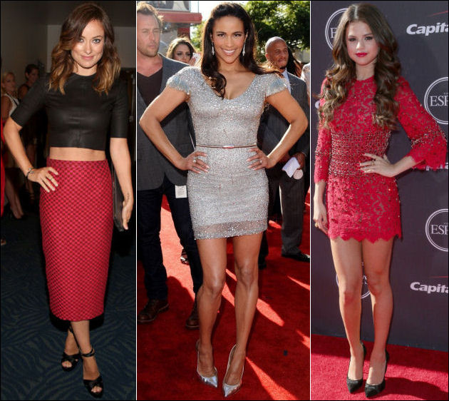 2013 ESPY Awards red carpet dresses Olivia Wilde Paula Patton Selena Gomez