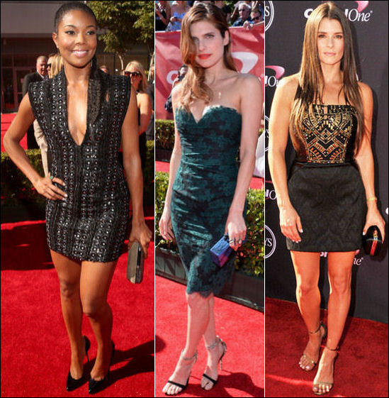 2013 ESPY Awards red carpet dresses Gabrielle Union Lake Bell Danica Patrick