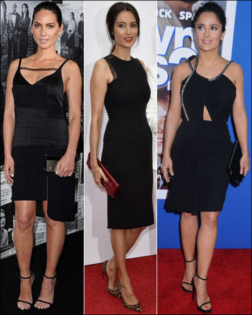 LBD little black dress olivia munn emma hemming salma hayek
