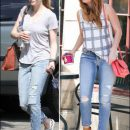 Copycats: Amanda Seyfried & Debby Ryan in Joe's Jeans
