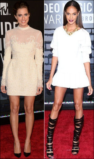 2013 MTV Video Music Awards vmas red carpet dresses allison williams joan smalls