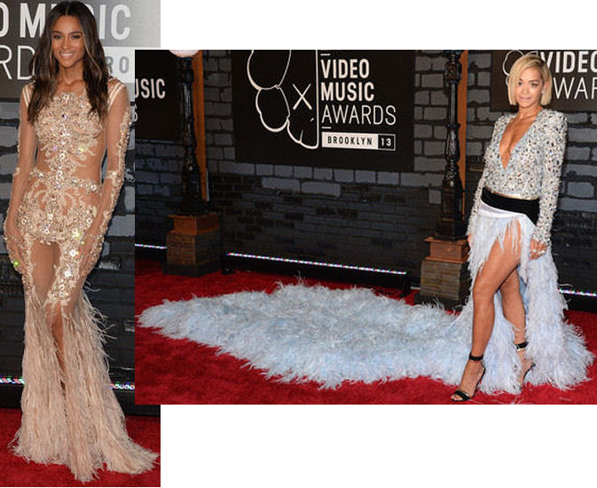 2013 MTV Video Music Awards vmas red carpet dresses ciara rita ora