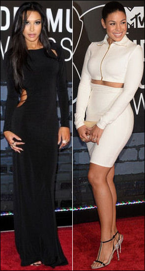 2013 MTV Video Music Awards vmas red carpet dresses naya rivera jordin sparks
