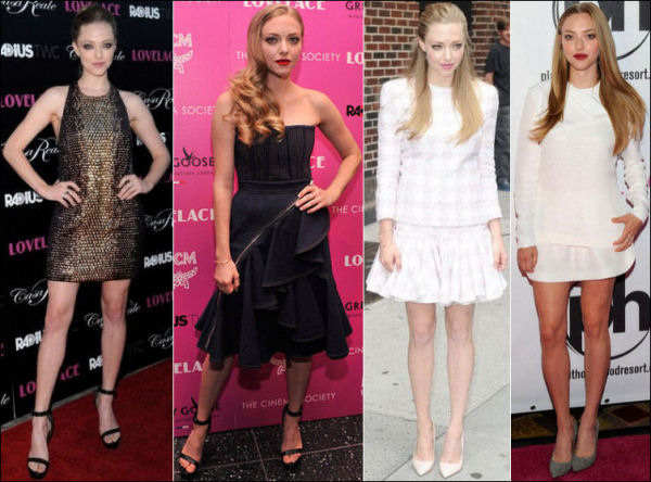 amanda seyfried style red carpet lovelace movie premieres