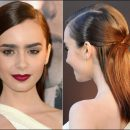 "Lily Collins goes sleek to ""The Mortal Instruments: City of Bones"" premiere"