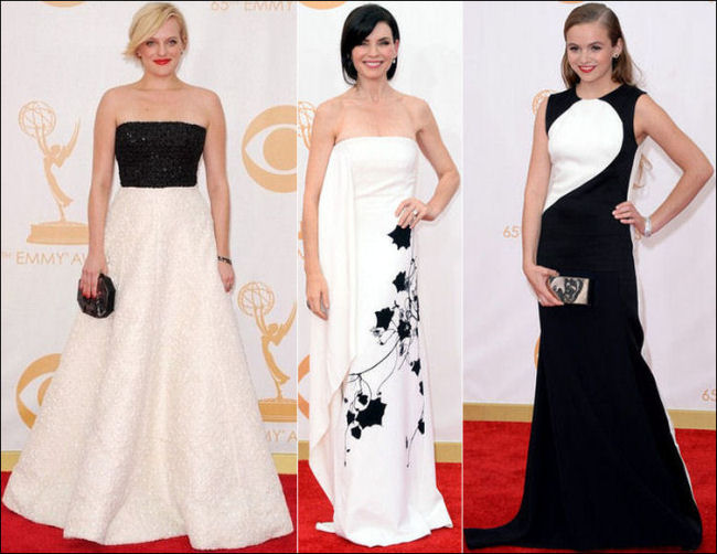 emmys dresses 2013 red carpet black and white