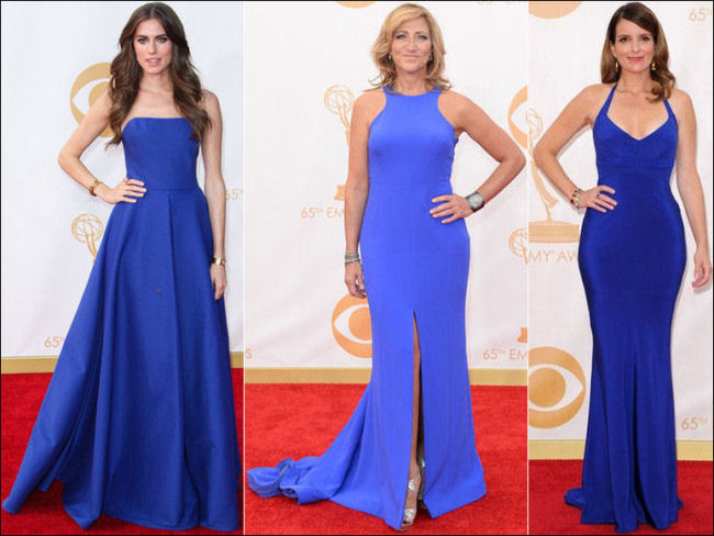 emmys dresses 2013 red carpet blues