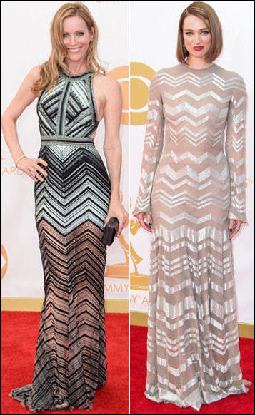 emmys dresses 2013 red carpet chevron print