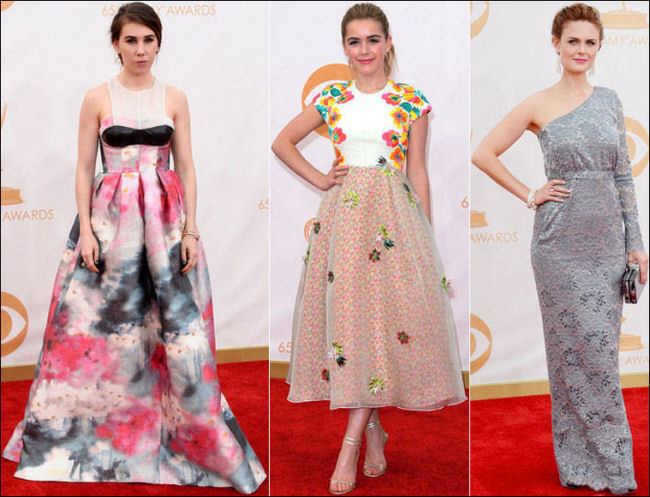 emmys dresses 2013 red carpet flower print