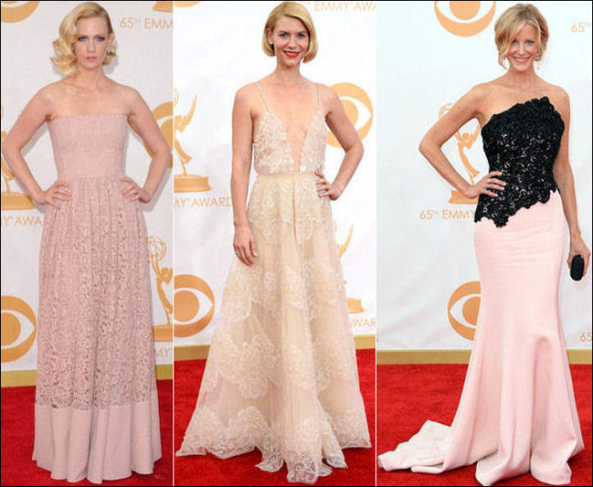 emmys dresses 2013 red carpet lace