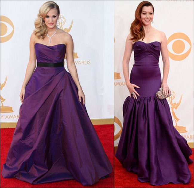 emmys dresses 2013 red carpet purple