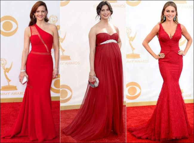 emmys dresses 2013 red carpet red