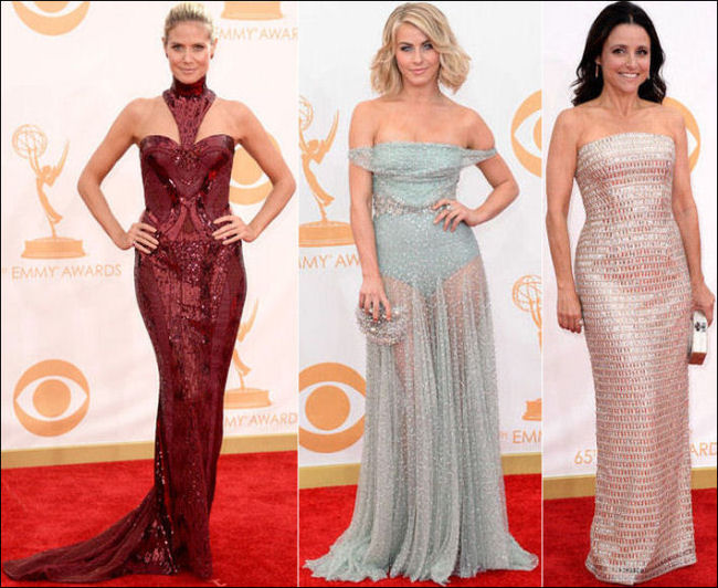 emmys dresses 2013 red carpet sparkles shimmery