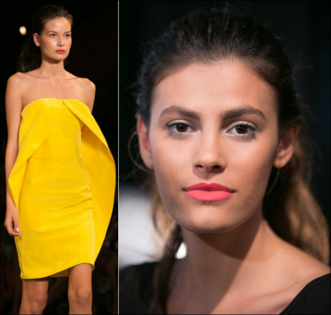 nyfw spring 2014 makeup beauty trends christian siriano