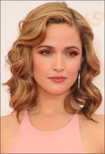 rose byrne hairstyle how-to emmys 2013