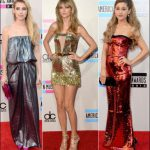 american music awards red carpet dresses 2013 taylor swift emma roberts