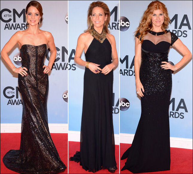 2013 cma red carpet dresses black