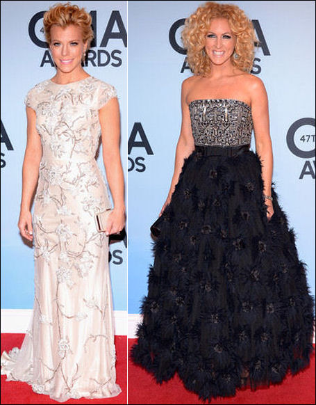 2013 cma red carpet dresses kimberly perry schlapman