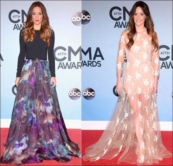 2013 cma red carpet dresses jana kramer kacy musgraves