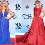 2013 cma red carpet dresses taylor swift miranda lambert