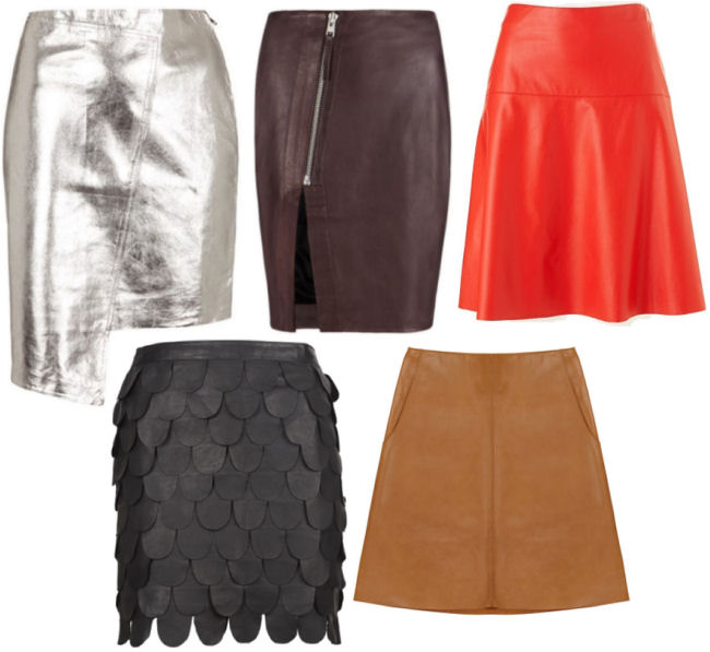 leather skirts fall fashion 2013