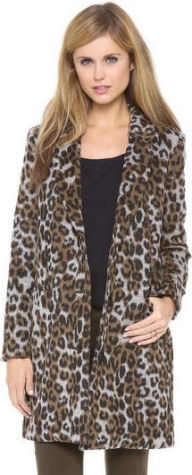 leopard print bb dakota coat animal prints