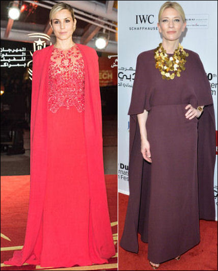 celebrities in capes noomi rapace cate blanchett