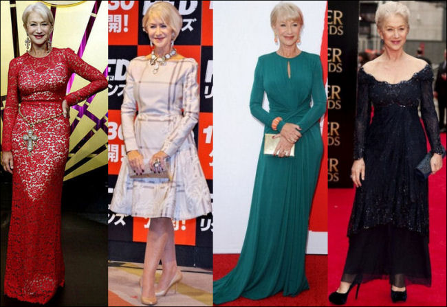 helen mirren style fashion red carpet
