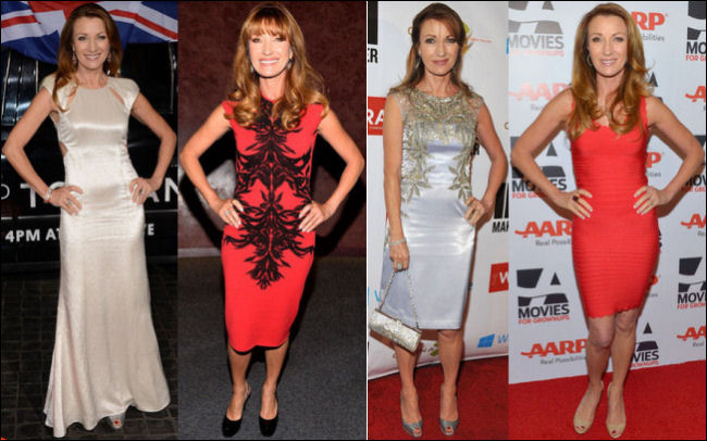 jane seymour red carpet dresses