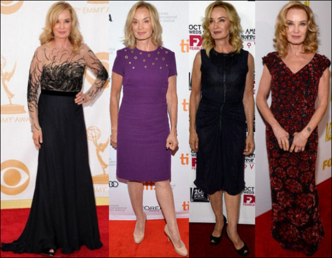 jessica lange red carpet dresses