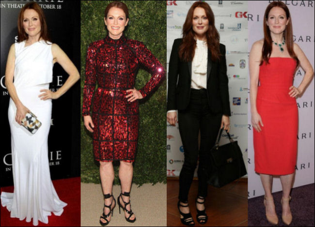 julianne moore red carpet fashion style