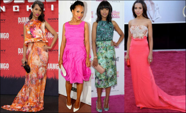 kerry washington red carpet dresses style