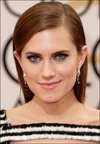 allison williams makeup golden globes red carpet 2014