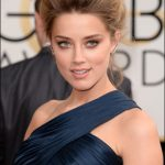 amber heard makeup golden globes red carpet 2014