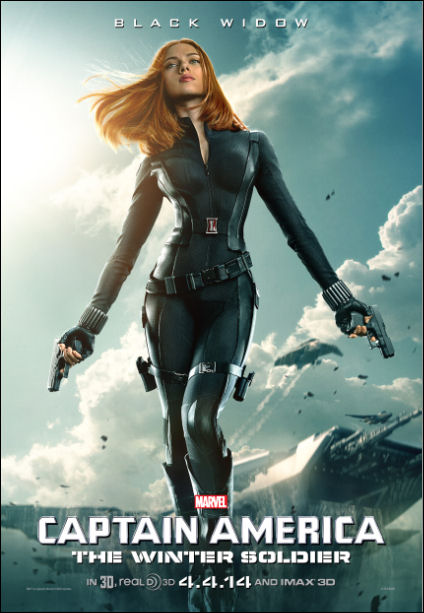 captain america the winter soldier movie poster black widow scarlett johansson