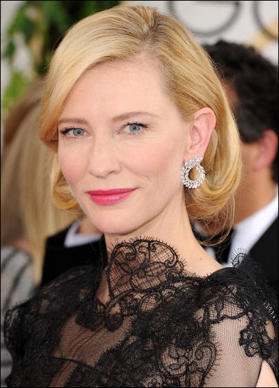 cate blanchett makeup golden globes red carpet 2014