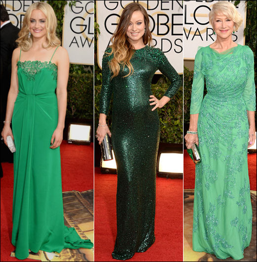 golden globes red carpet dresses 2014 green dresses