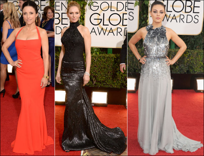 golden globes red carpet dresses 2014 halter dresses