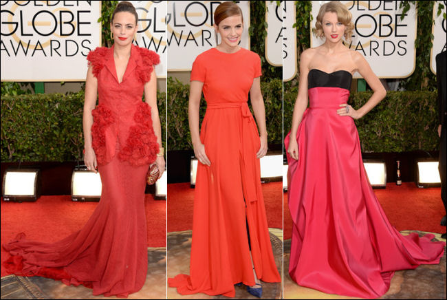 golden globes red carpet dresses 2014 red dresses