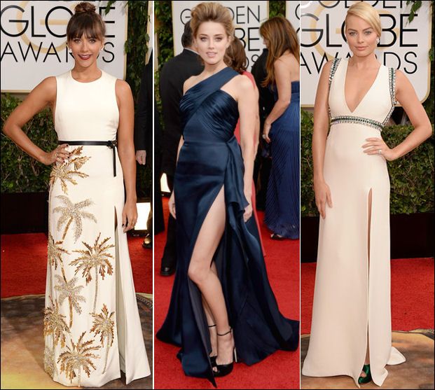 golden globes red carpet dresses 2014 slits