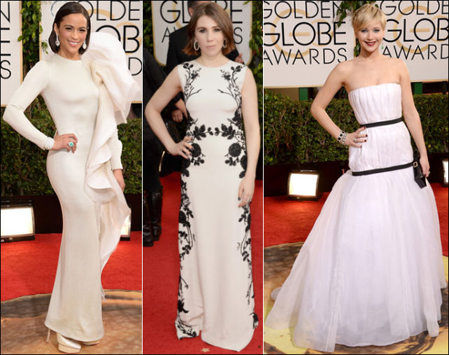 golden globes red carpet dresses 2014 white