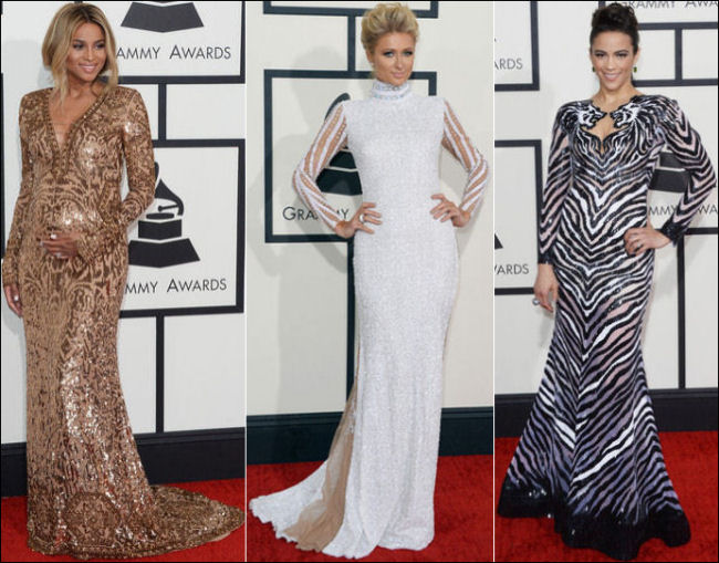 grammys red carpet dresses fashion 2014 long sleeve dazzling dresses