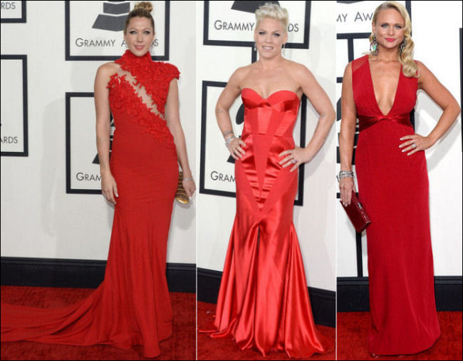 grammys red carpet dresses fashion 2014 red dresses